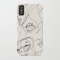 girls iPhone & iPod Cases featuring Girls by 5wingerone