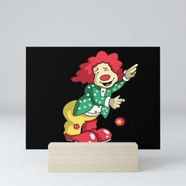 Funny Weiner Clown Mini Art Print