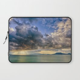 Heavenly lights through storm clouds over Lake Balaton Laptop Sleeve