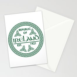 Republic of Ireland - EST. 1921 St.Patrick's Day Awesome Shirt Stationery Cards