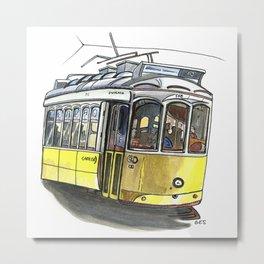 Tram 12, Lisbon Metal Print