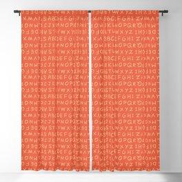 ABC in Coral & Peach Blackout Curtain