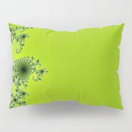 Green Fractal Pillow Sham