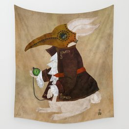 'Postapocalyptic' style White Rabbit (Alice in Wonderland) Wall Tapestry