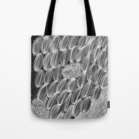wild things Tote Bags featuring Wild Things by Georgiana Paraschiv