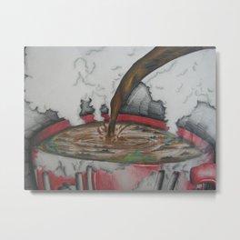 Cup of oil Metal Print
