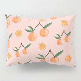 Fruity Oranges Pattern in Peach Pink  Pillow Sham