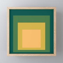 Block Colors - Green Yellow Cream Framed Mini Art Print