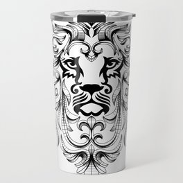 Heraldic Lion Head Travel Mug