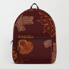 Wild Winter Garden Botanical Drawing Backpack