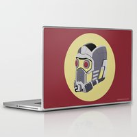 starlord Laptop & iPad Skins featuring  Starlord's Helmet - Guardians of the Galaxy by Matt Dunne