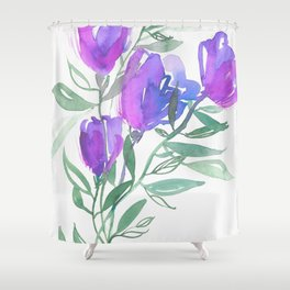 Tulipes Pourpres Shower Curtain