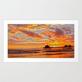 California Dreaming (cropped) ~ Huntington Beach Pier Art Print