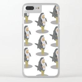 Shark Girl Clear iPhone Case