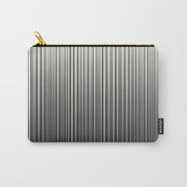 Soft Industrial Cream and Black Blended Random Vertical Lines Carry-All Pouch