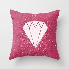 Space Diamond  Throw Pillow