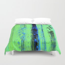 Gerhard Richter Inspired Urban Rain 2 - Modern Art Duvet Cover