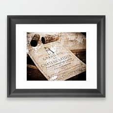 Great Wines Of Bordeaux - Chateau Latour 1955 Framed Art Print