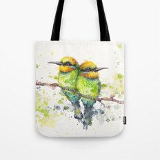 Family (Rainbow Bee Eaters) Tote Bag