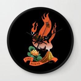 Fire Burns Wall Clock