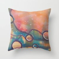 dune Throw Pillows featuring Dune by Angelina Yvette