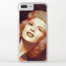 Jayne Mansfield, Hollywood Legend Clear iPhone Case