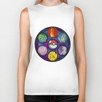 stained glass Biker Tanks featuring Stained Glass by Mazuki Arts