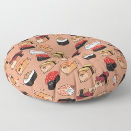 Sushi Pomeranian Floor Pillow
