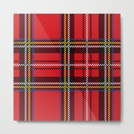 red kilt Metal Print