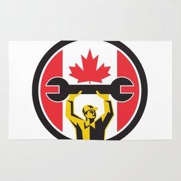 Canadian Mechanic Canada Flag Icon Rug