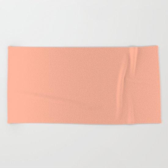 Simply Sweet Peach Coral Beach Towel