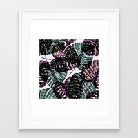 leaf Framed Art Prints featuring Leaf by Burcu Korkmazyurek