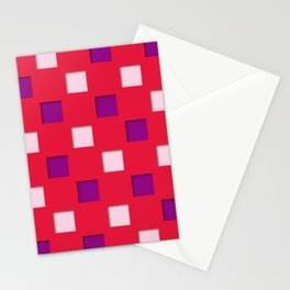 Japanese checkered pattern #1 Stationery Cards