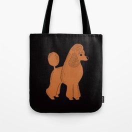 Apricot Poodle on Black Tote Bag