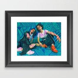 Trippy Broad City Framed Art Print