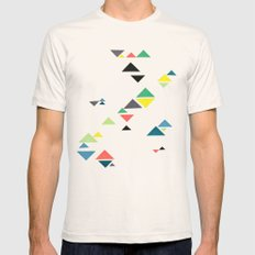 Triangles Natural Mens Fitted Tee LARGE