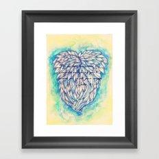 Blue Guardian Angel Framed Art Print