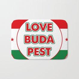 Love Budapest, circle, color Bath Mat