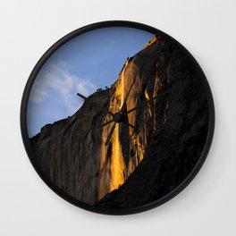 Yosemite Firefall 2016 Landscape Wall Clock