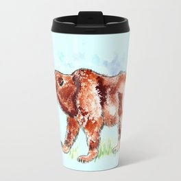 Bear Watercolor Travel Mug
