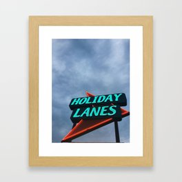 HOLIDAY LANES Framed Art Print