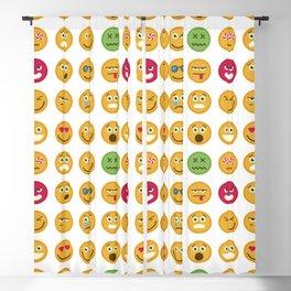 Emoticons set pattern Blackout Curtain