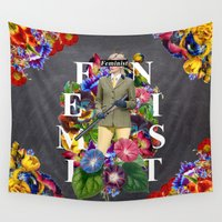 feminist Wall Tapestries featuring Feminist by Samwise