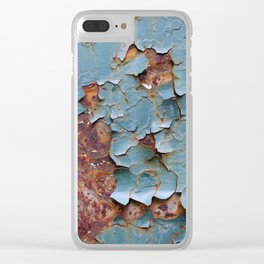 Cracked paint, abstract background Clear iPhone Case