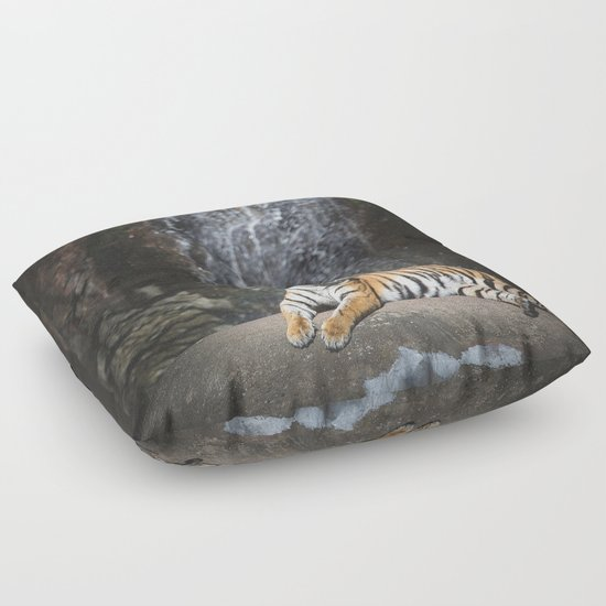 Animal Shaped Floor Pillows : Big Cat 2 Floor Pillow by HappyMelvin Society6