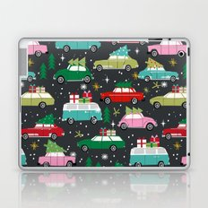 Christmas pattern print vintage cars holiday gifts presents christmas trees cute decor Laptop & iPad Skin