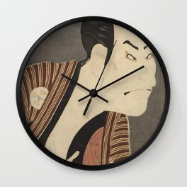 Famous Japanes Art: Tōshūsai Sharaku - Print of Ōtani Oniji III in the Role of the Servant Edobei Wall Clock