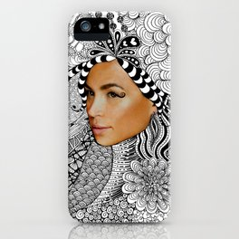 Tangled Face iPhone Case