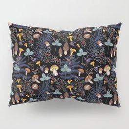 dark wild forest mushrooms Pillow Sham