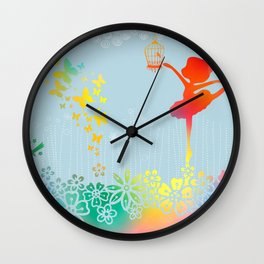 Ballerina Dance No. 5 Wall Clock